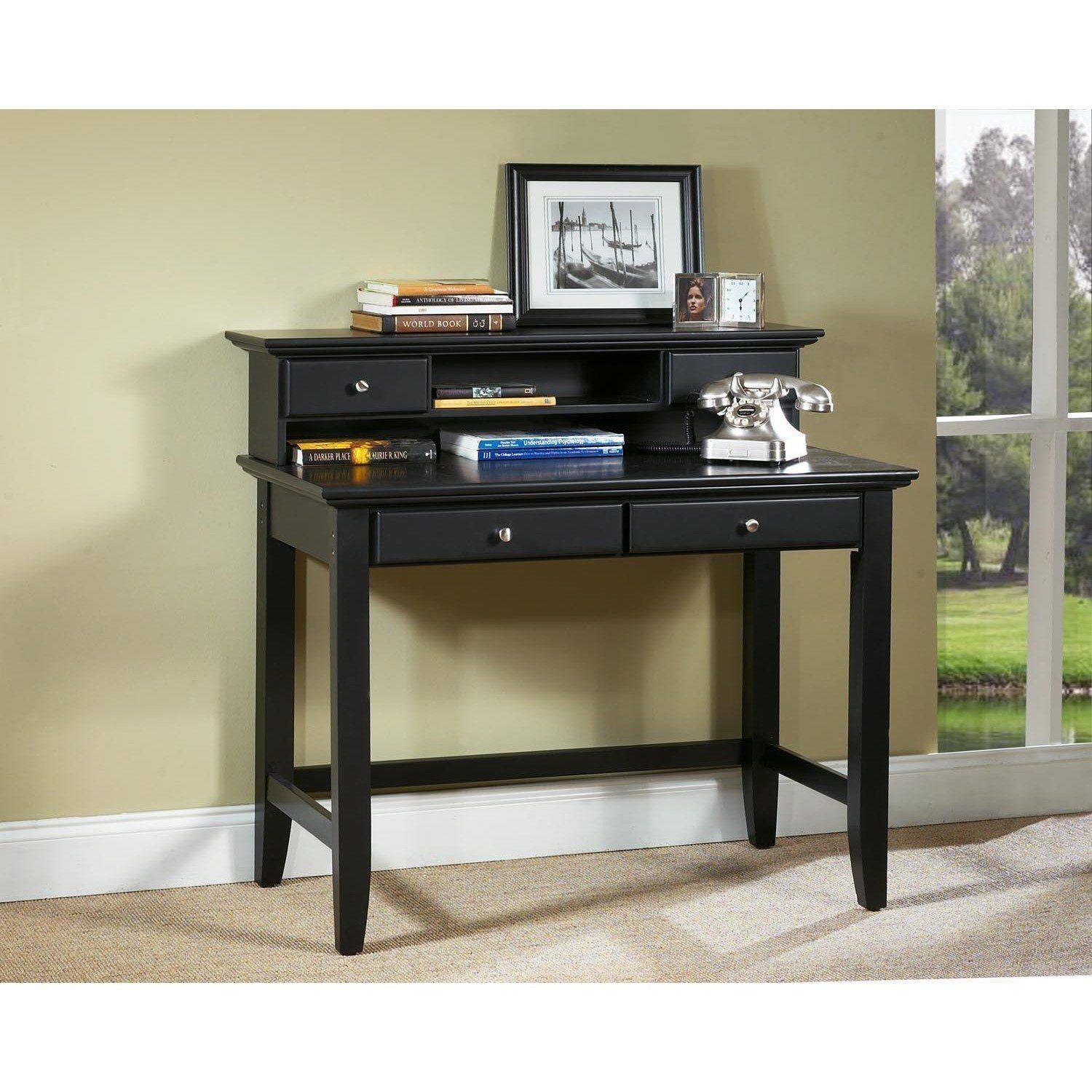 Gracewood Hollow Antoine Black Student Desk And Hutch