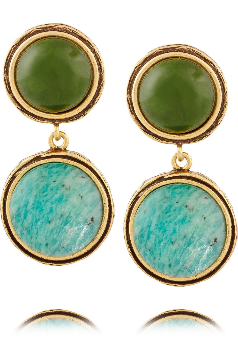 Oscar de la RentaGold-plated cabochon earrings