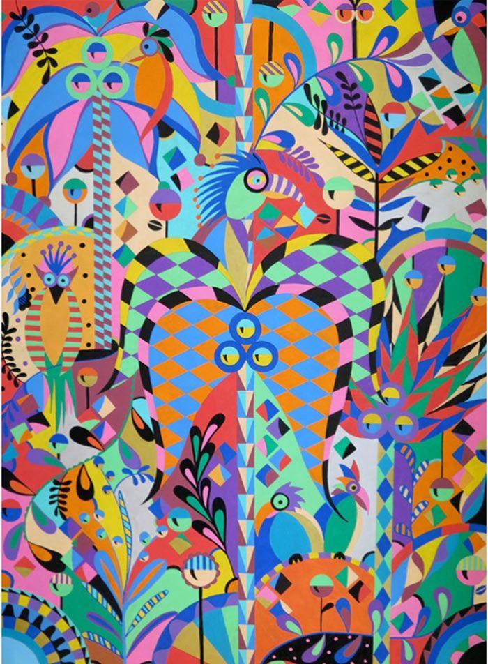 Naia Ceschin Pattern Collage Print Collage Graffiti Art