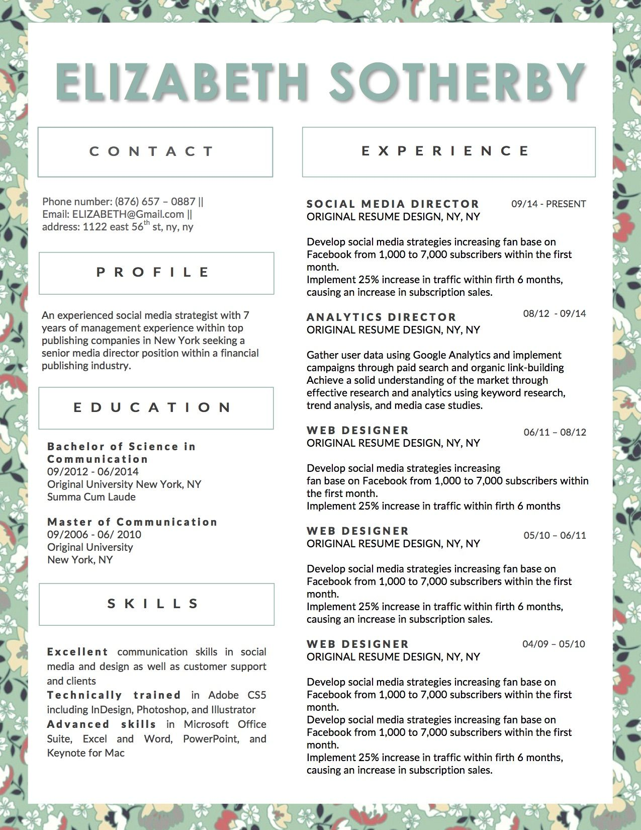 Beautiful Resume Template For Microsoft Word This Is An Instant
