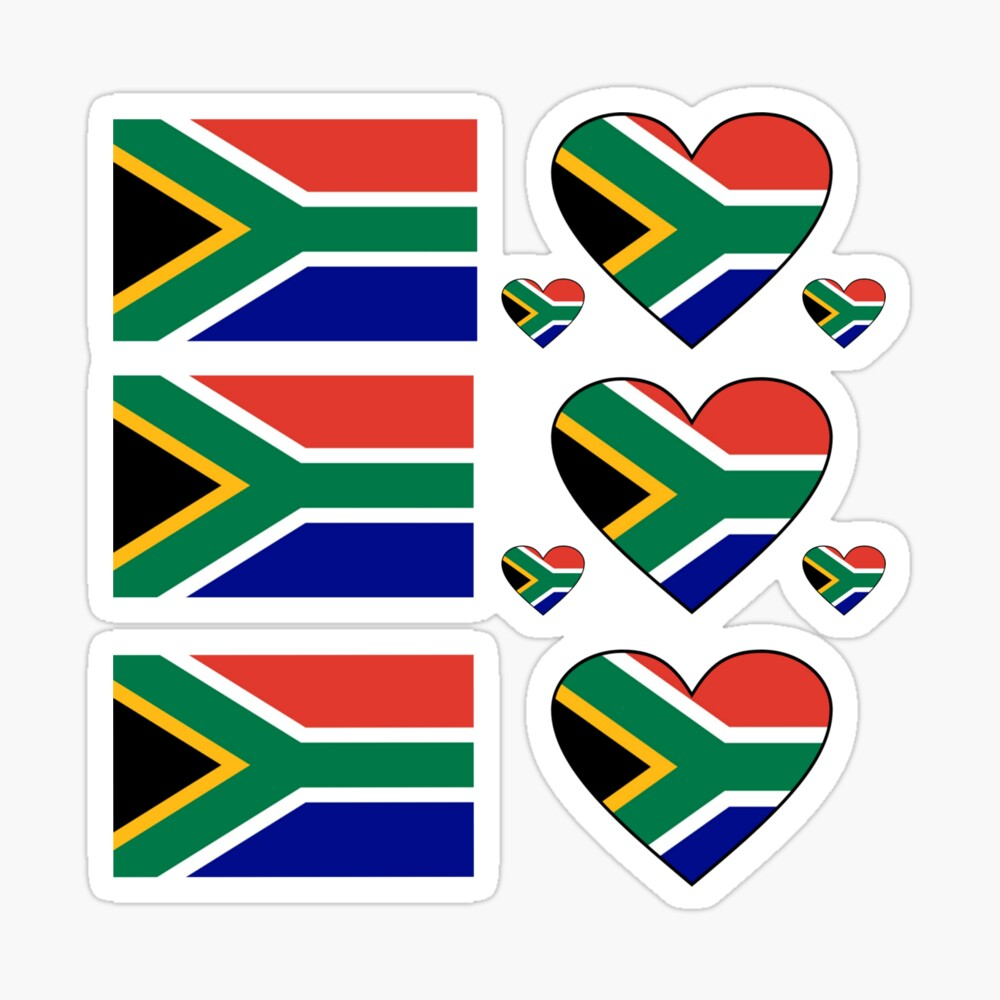 South Africa Stickers South African Sticker Sheet South Africa Flag Stickers By Gracetee Redbubble In 2021 South African Gifts Africa Flag South Africa Flag