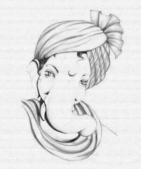 Pencil Sketches Ganesha