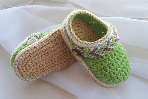 CROCHET PATTERN Baby Shoes - Crochet Booties - Baby Clogs - Tribal ...