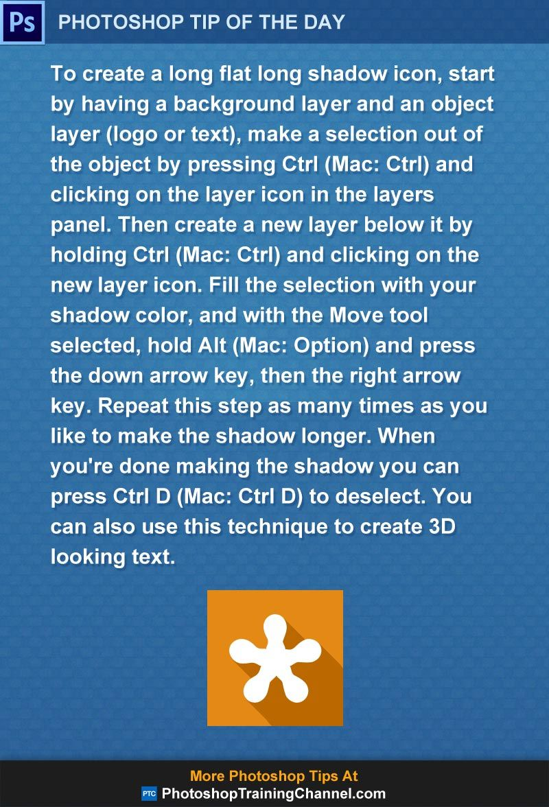 Easily Create A Flat Long Shadow Icon tips