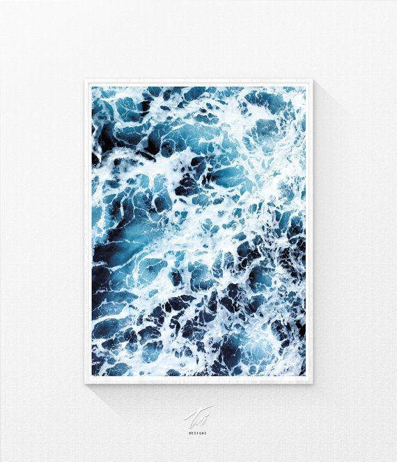 Póster, impresión de olas del océano, arte de la pared, imprimible, océano pared…