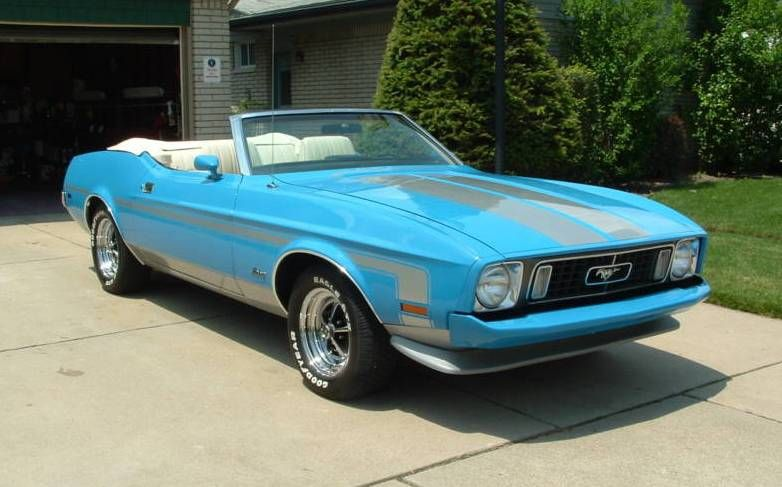Grabber Blue 1973 Mustang Convertible 1973 Mustang Mustang