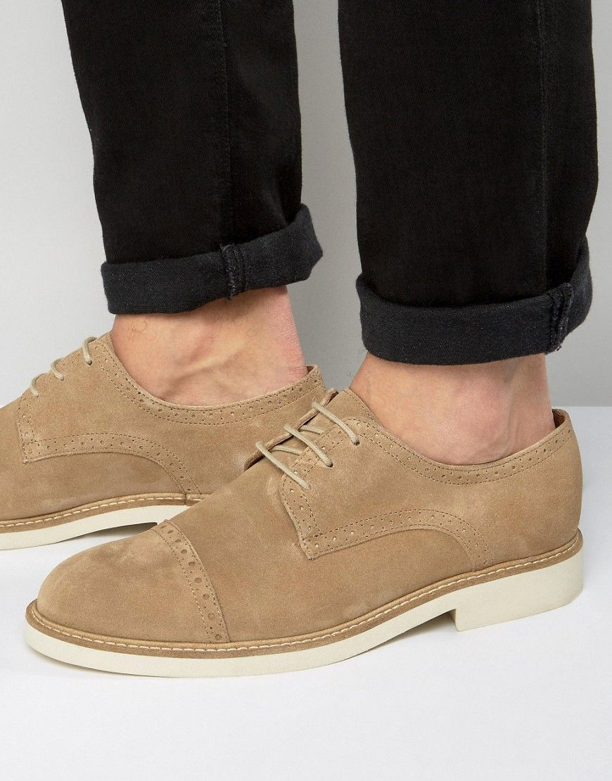 Time to look great with this Selected Homme Noah Suede Brogues - Stone -  http: