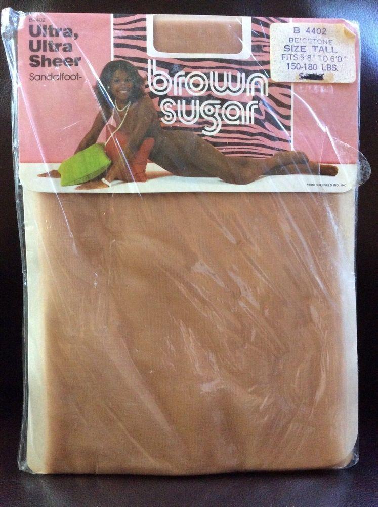 88feae7e5 Vtg Brown Sugar Pantyhose Beigetone B4402 Tan Size Tall Ultra Sheer  Sandalfoot  BrownSugar