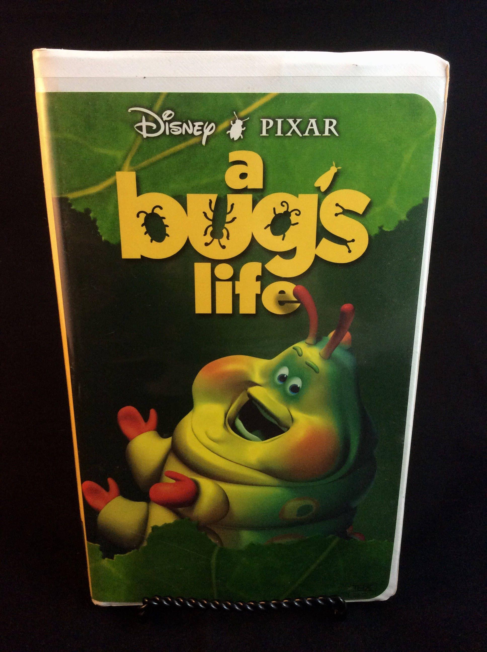 A Bug's Life VHS Tape 90s Disney/Pixar animated movies