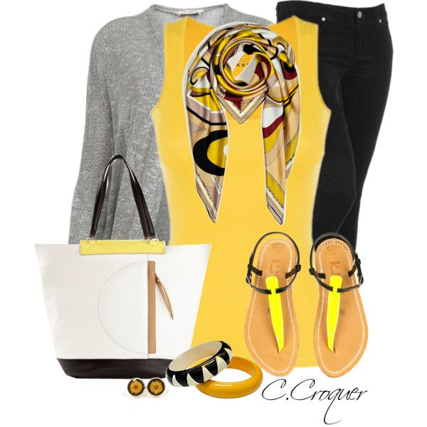 Yellow Top, created by ccroquer on Polyvore