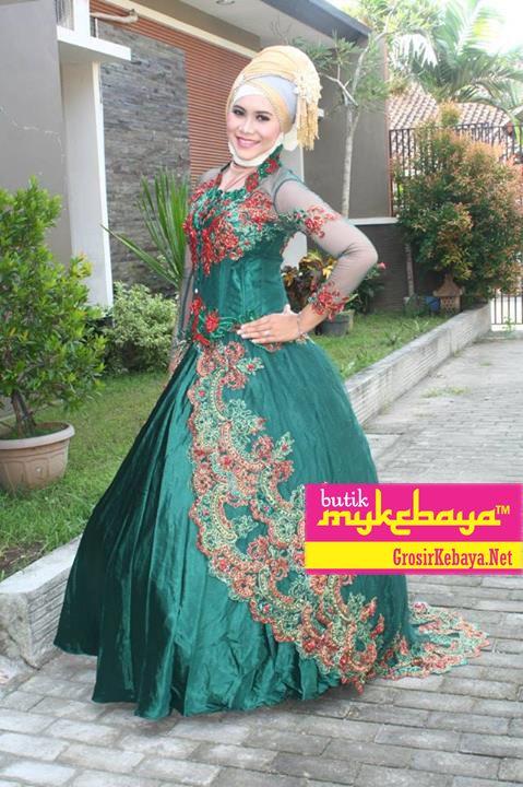 Kebaya Gaun Muslim Kebaya Muslim Dress Model Baju Kebaya Muslim