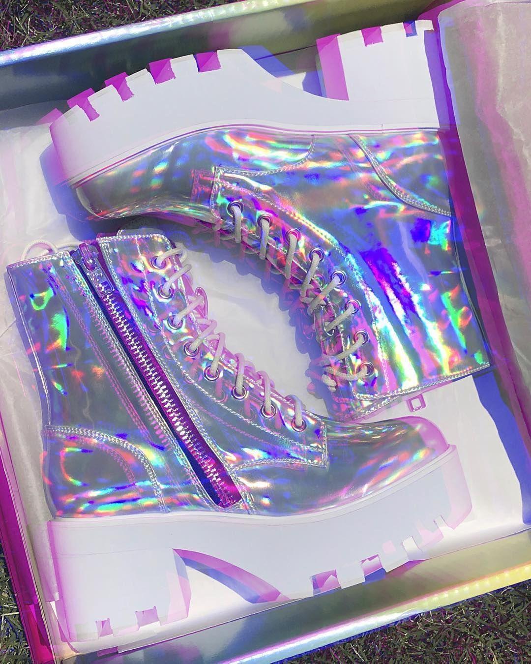 1a6a857b010 Current Mood – Chiller Holographic Platform Boots