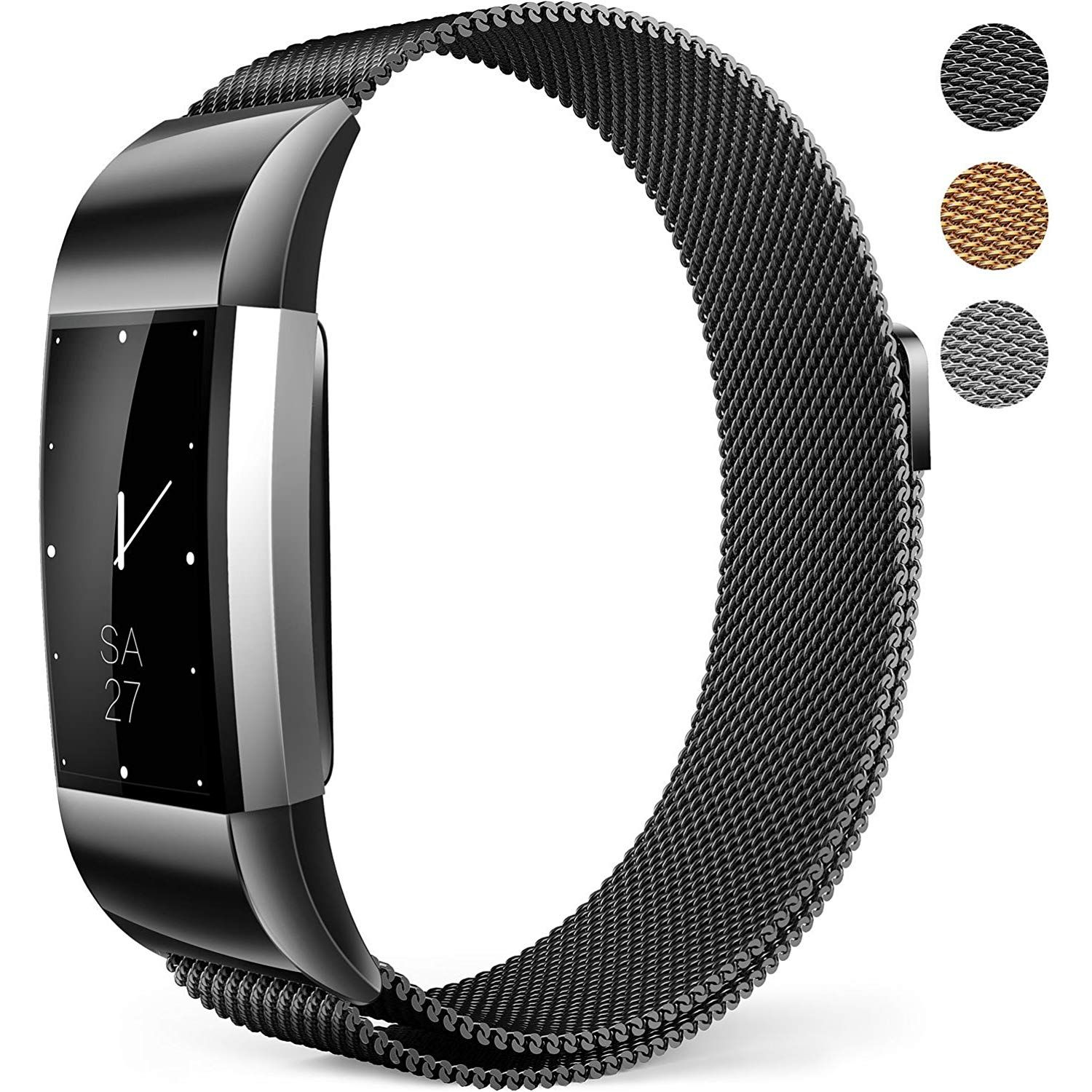 Fitbit charge 2 bands milanese mesh loop wristband