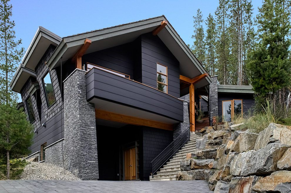 Hardie Board Colors Exterior Contemporary With Black House