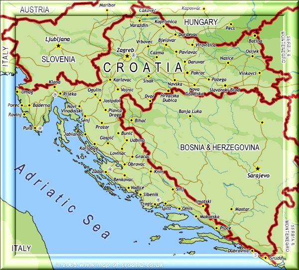 Kaart Kroatie Segelurlaub Segeln Lernen Segeln