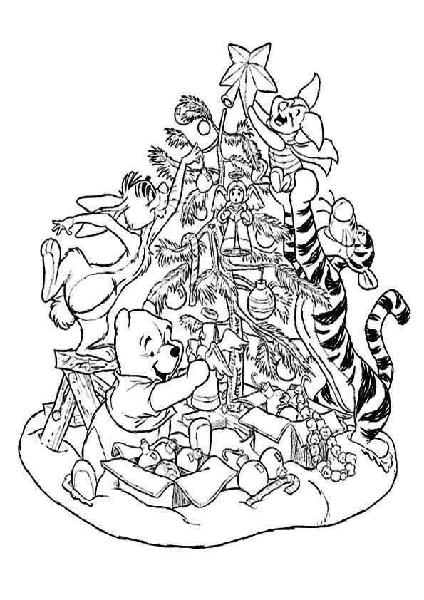 Ausmalbilder Weihnachten Disney Ausmalbildkostenloscom
