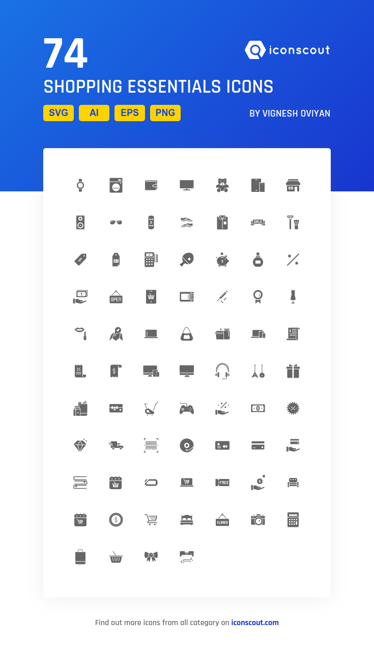 Download Download Shopping Essentials Icon pack - Available in SVG ...