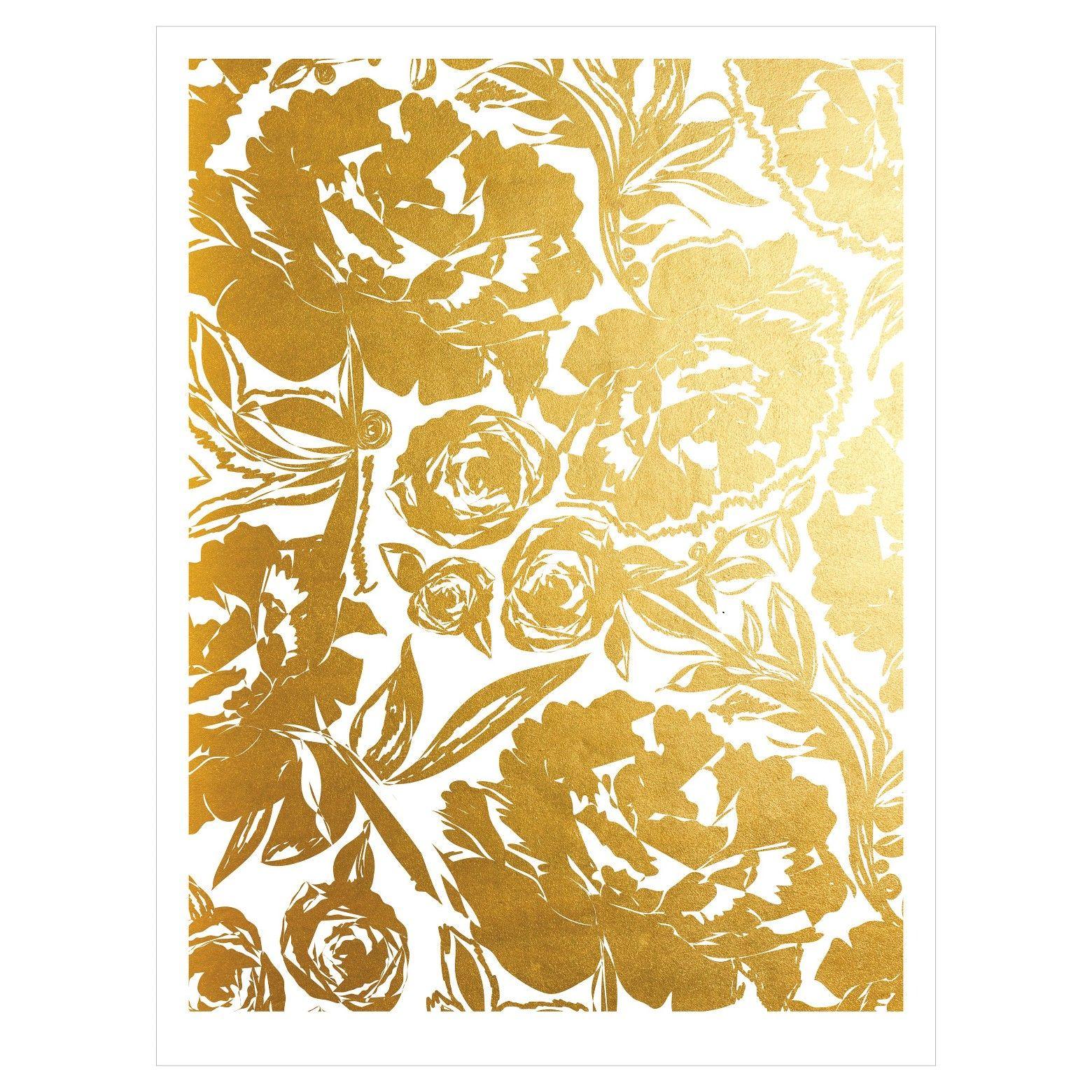 Art.com Arianna In Gold by Khristian Howell Unframed Wall Art Print ...