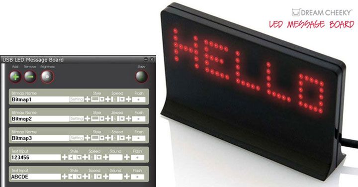DOWNLOAD DRIVER: DREAM CHEEKY USB LED MESSAGE BOARD