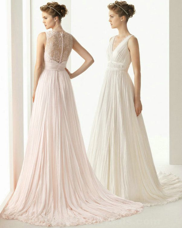Wedding dresses lace chiffon