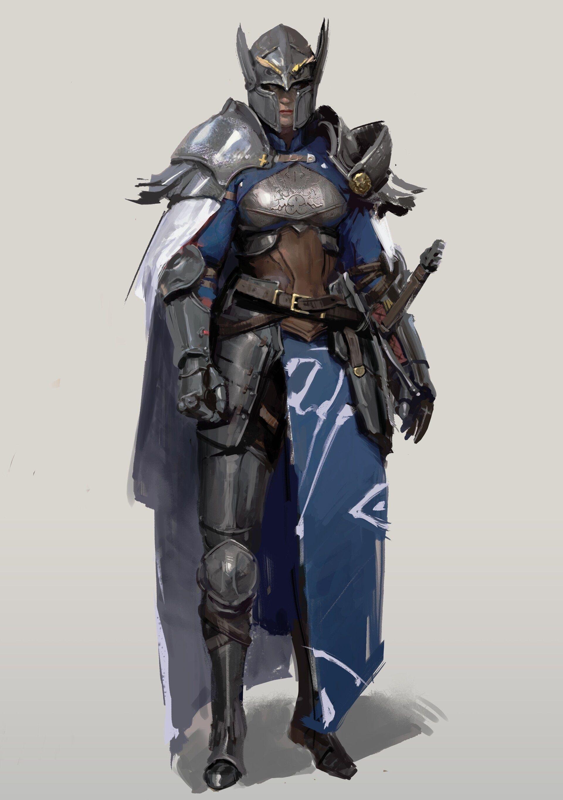 Lumissonnian Knight Commander Fantasy Character Design Fantasy