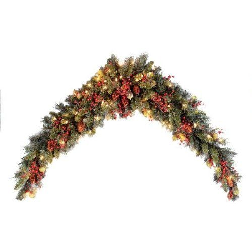 National Tree 6 Foot Classical Collection Mantel Swag with Cones