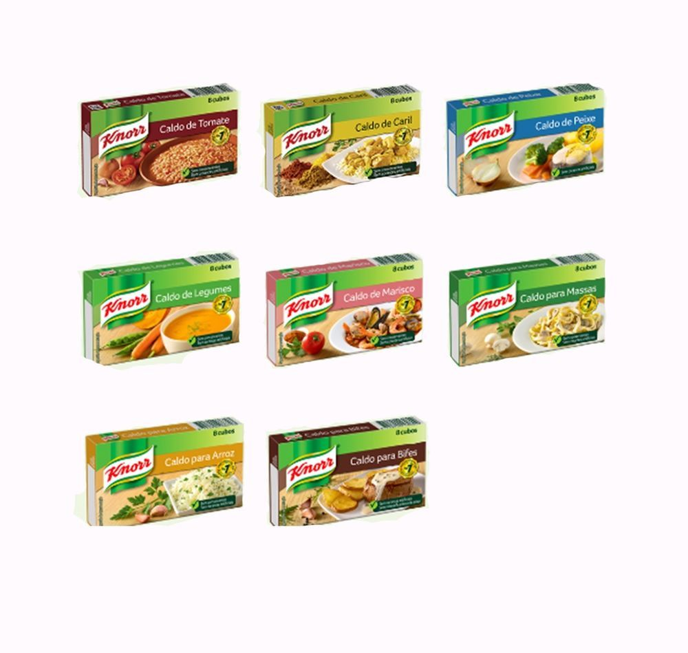 KNORR SEASONING 8 Cubes ( Tomato Curry Fish Vegetable Seafood Pasta Rice  Steak ...
