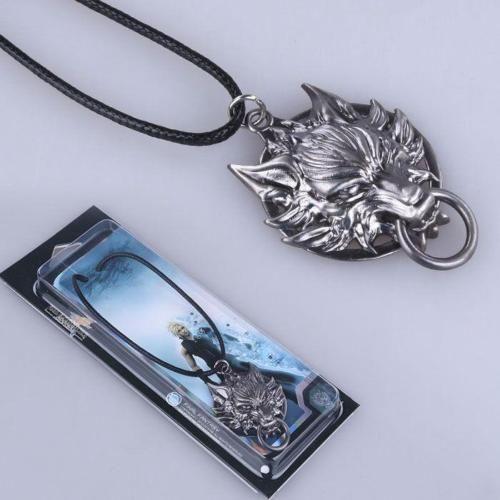 Final Fantasy Cloud Strife Wolf Head Logo Alloy Key Chains Keychain Keyring