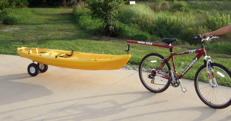 Dumb Stick SUP Kayak Trailer Bicycle Tow Bar Kayak Tow Bar Bicycle Trailer