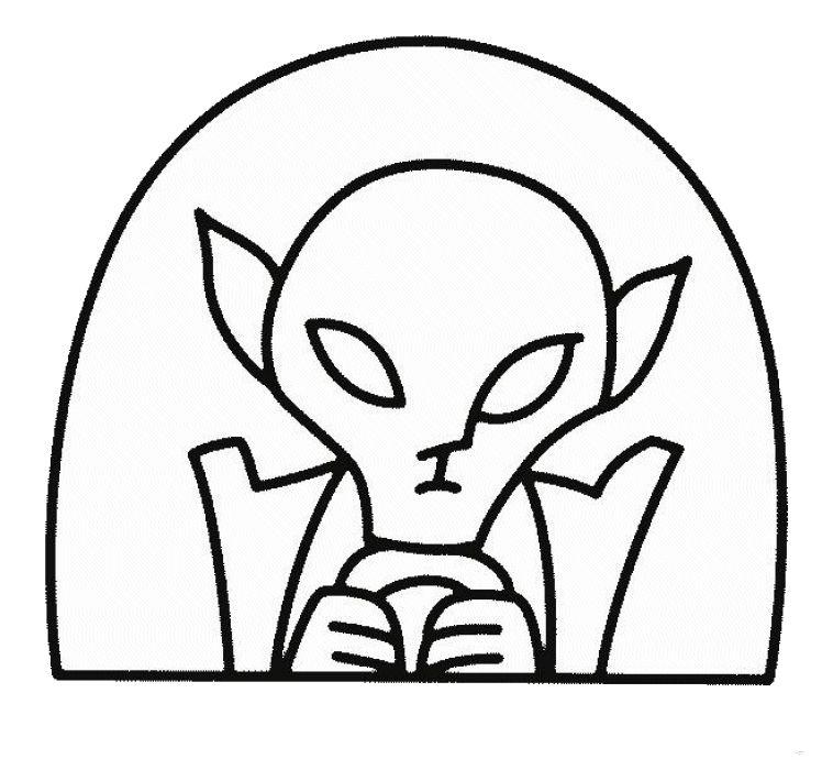 Desenhos para pintar Extraterrestres 9