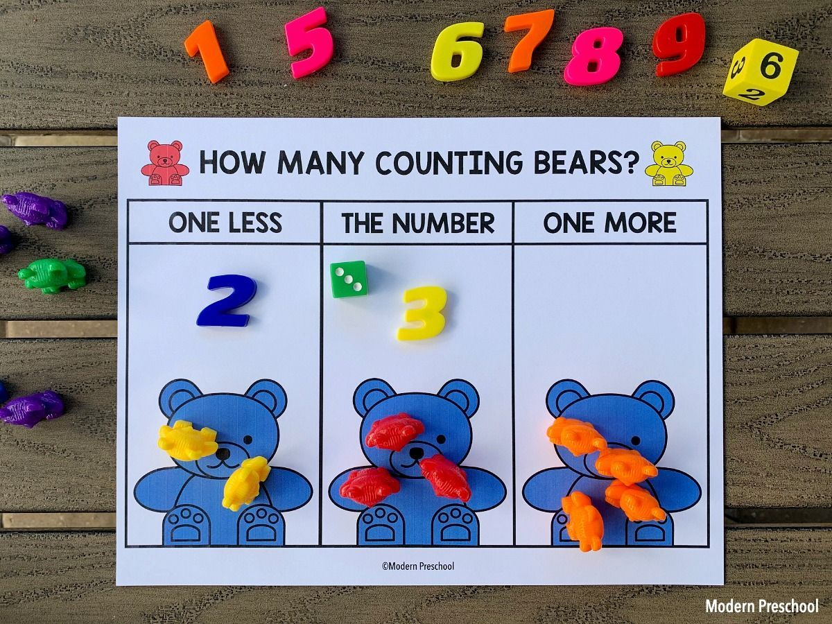 Counting Bears One More One Less Number Mats In