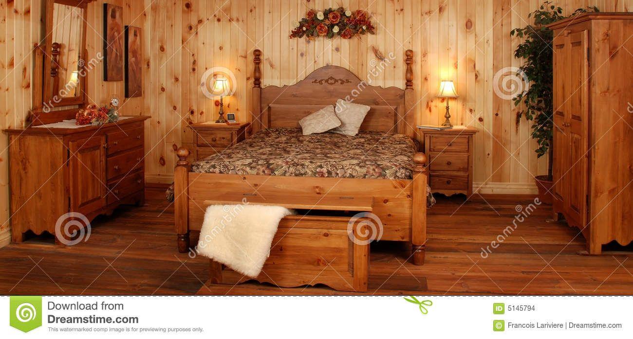 Old pine wood bedroom set stock photo image of glaze