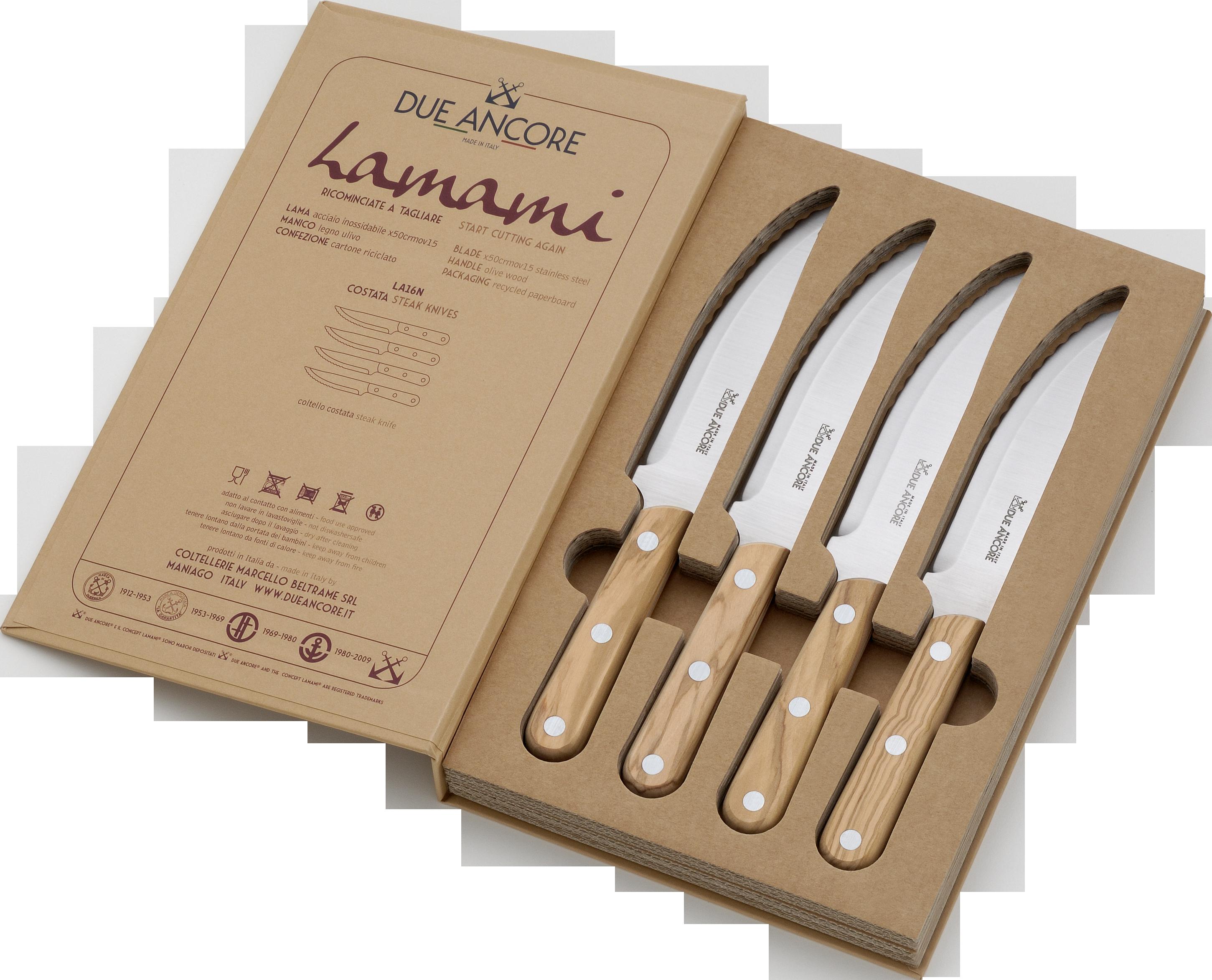 italianstyled steak knife set