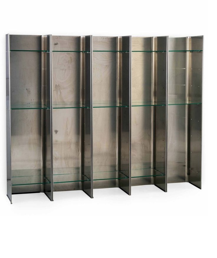 Carla Venosta And Guido Zimmermann Stainless Steel Gl Valiant Bookcase For Arfle
