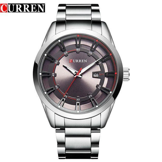Men's Wristwatches Calendar Fashion Casual Full Steel Sports Business Quartz Watch Men