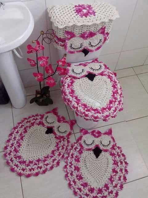 Banos a crochet   Crazy stuff !?!!!?!! ;)   Pinterest   Eule ...