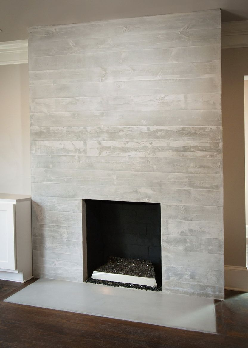 How to make a concrete fireplace surround
