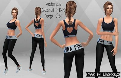 4 Yoga Set Sims Secret My Pink By BlogVictoria's Lindseeeyxx nvwOy80PmN
