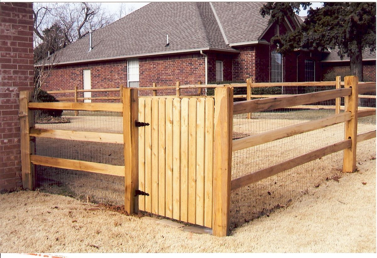 Wood And Wire Fence Morrison Fence Company Fence Design