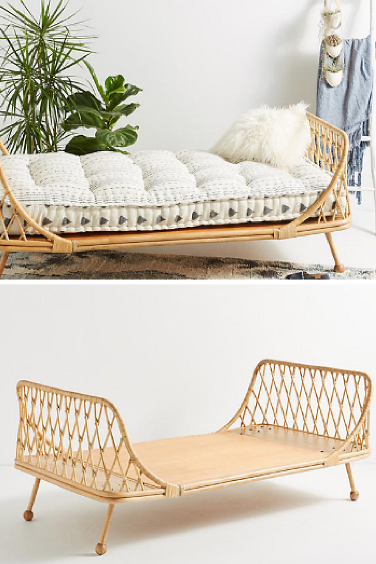 Use this curving daybed on a sun porch to soak up warmth or with a