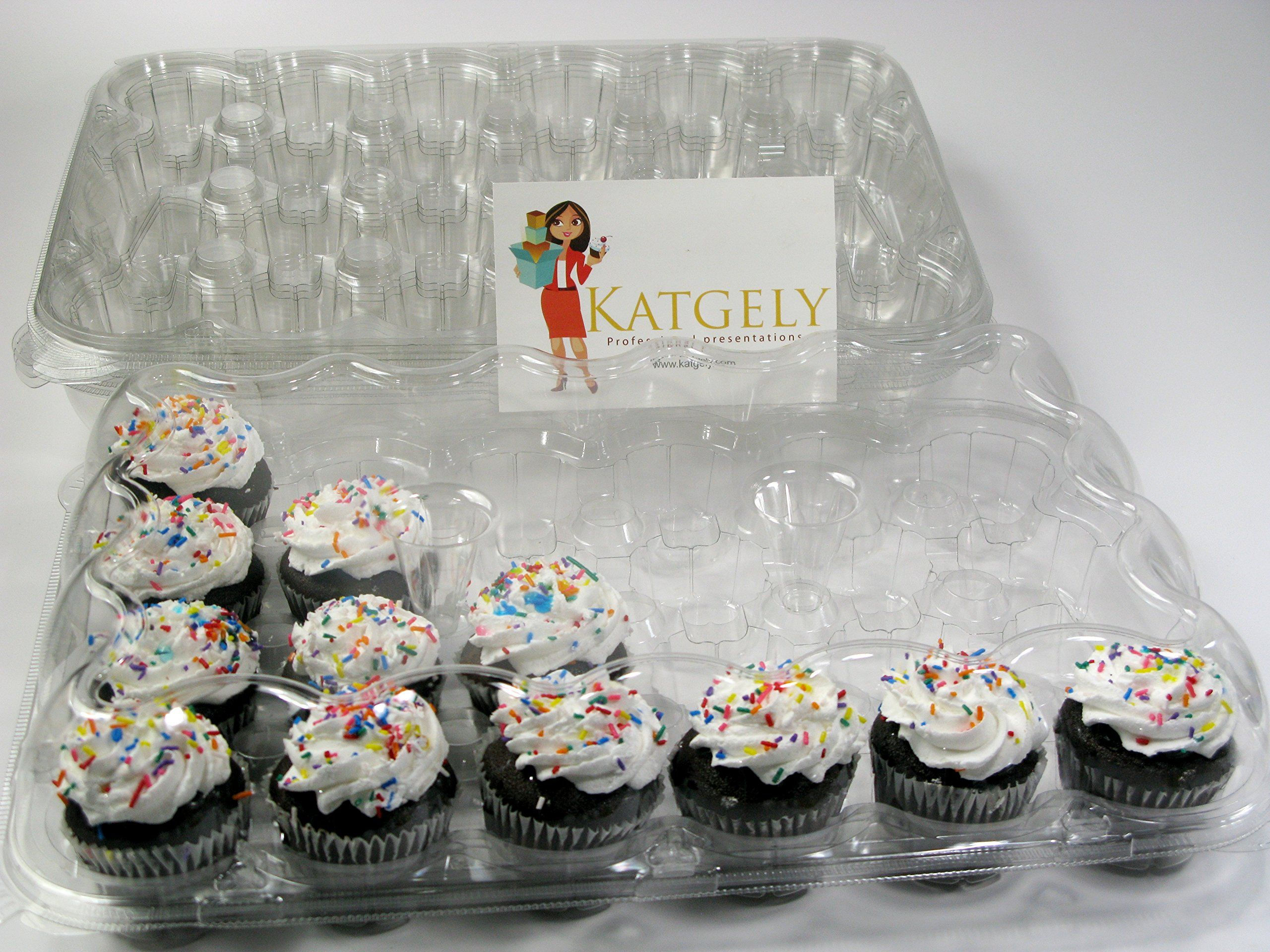 Katgely cupcake boxes cupcake containers 24