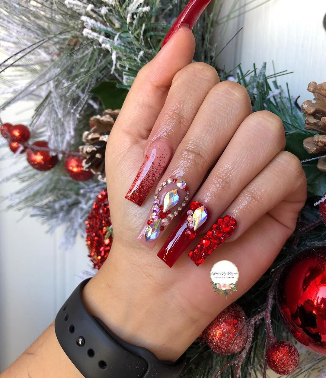 """Licensed Nail Tech🇲🇽 20 ️ on Instagram """"♥️ . . .…"""" Nail"""