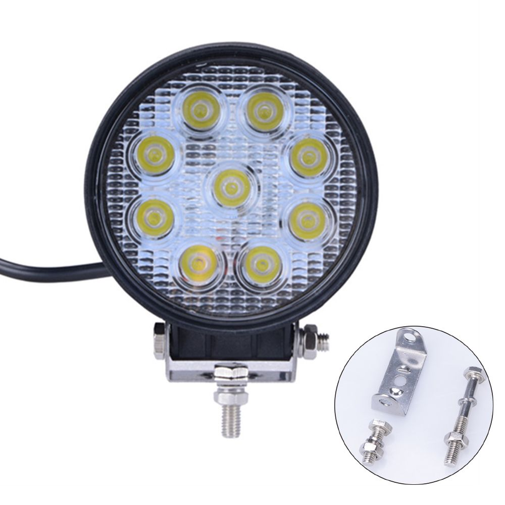 1pc Led Bar 12v 24v 24w 4 Inch Work Light Spot Flood Offroad Driving Light Offroad Car Spotlight Driving Lamp Round Work Lights Car Lights Led Work Light