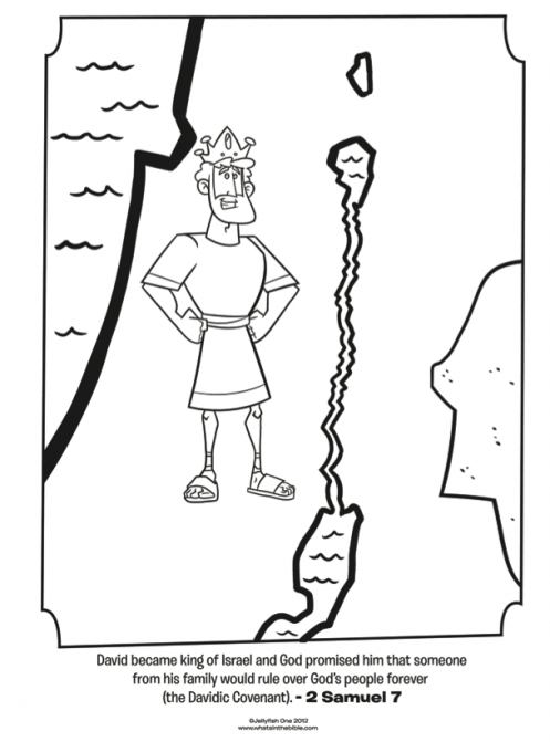 Kids coloring page from Whats in the Bible featuring King David