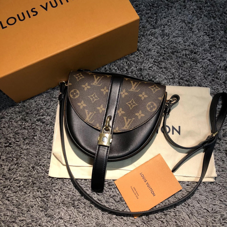 dfdd44f76048 Louis Vuitton Monogram Reverse Canvas Chantilly Lock Bag M43590 Noir ...