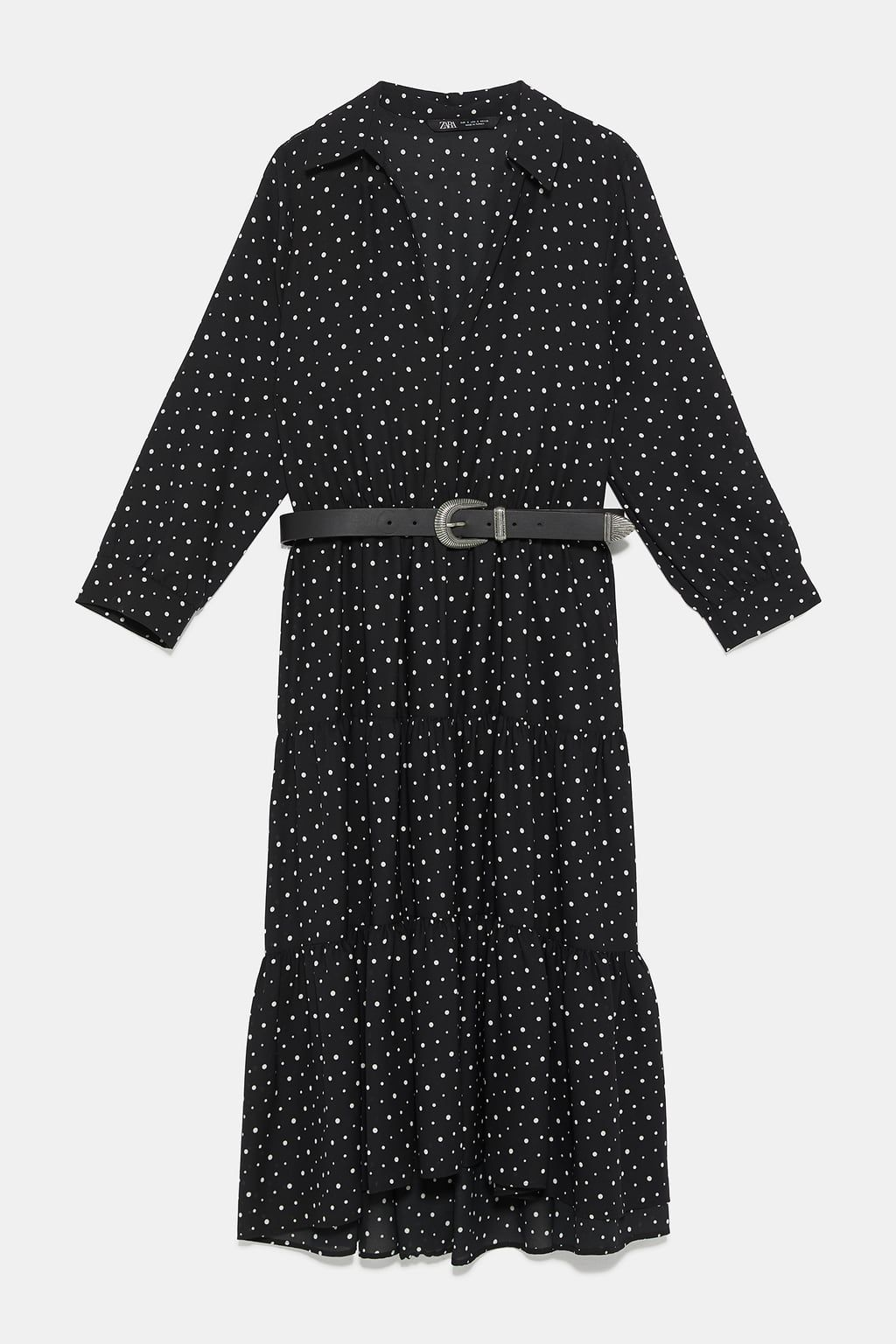3d699191 Polka dot dress with belt in 2019 | Outfits | Belted dress, Dresses ...