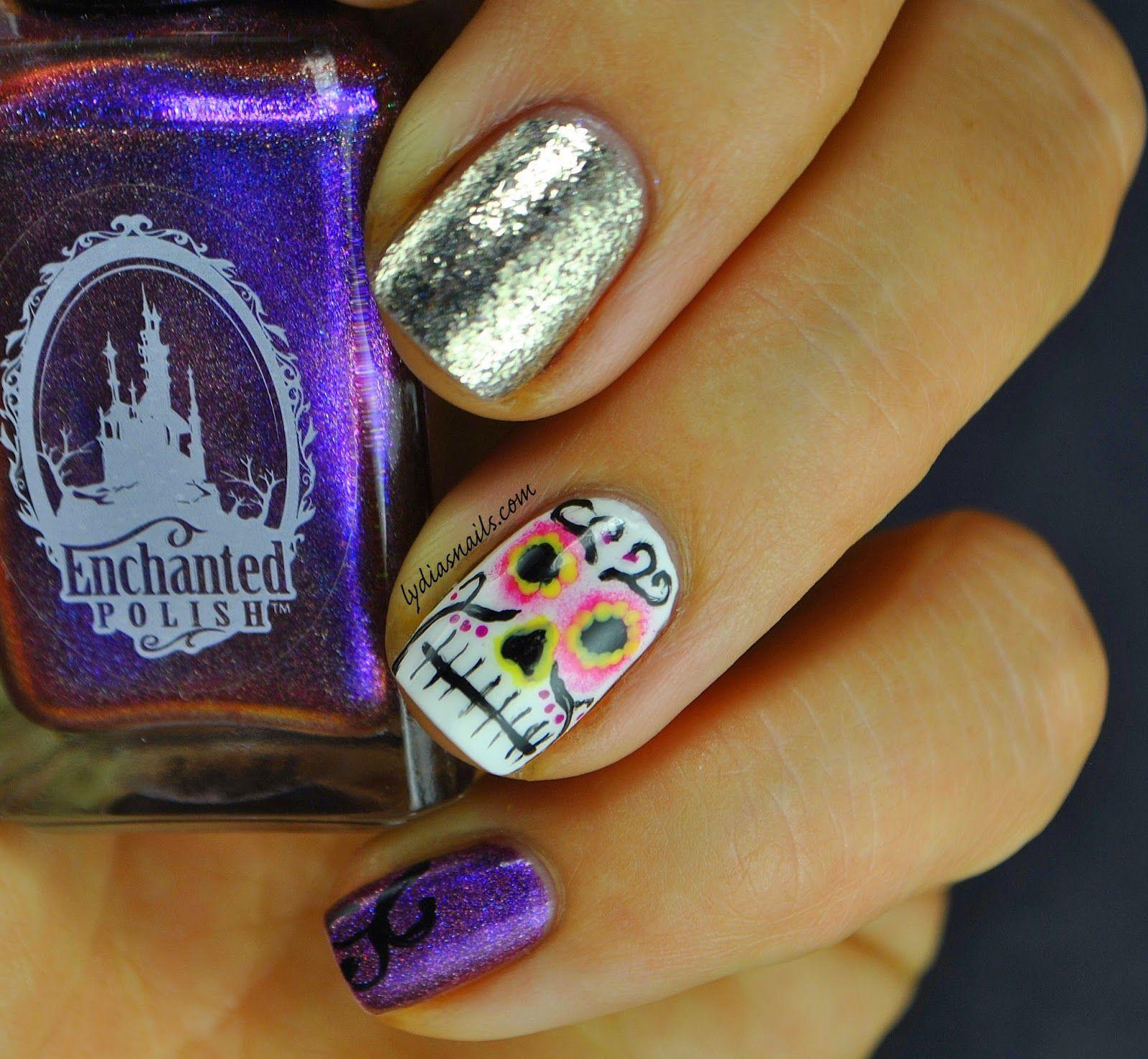 Halloween Themed Nail Art Great Nail Art Design Pinterest