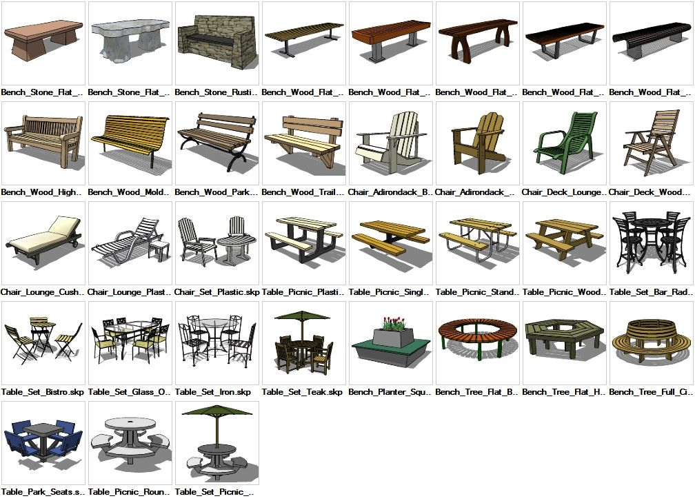 Sketchup furniture exterior 3d models download cad for Exterior design software free download