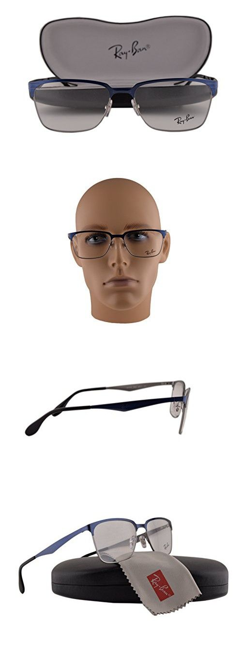 009872a1c3e Ray Ban RX6344 Eyeglasses 54-17-140 Top Brushed Dark Blue On Gunmetal 2863  RB6344
