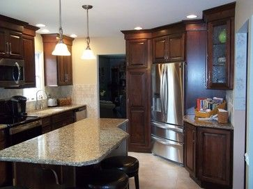 Corner Refrigerator Kitchen Renovation   Traditional   Kitchen    Philadelphia   Kitchen Design Specialists